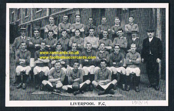 1913 Liverpool F.C. postcard unused, clean typically divided back SEE photos below
